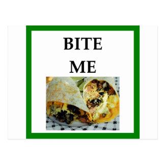 burrito postcard