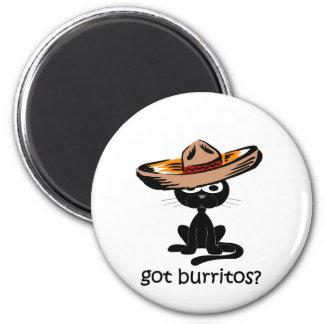 Burritos conseguidos divertidos imán redondo 5 cm