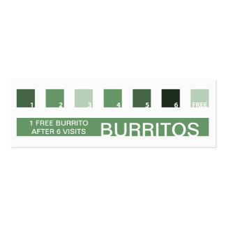 BURRITOS customer appreciation (mod squares) Business Card Templates
