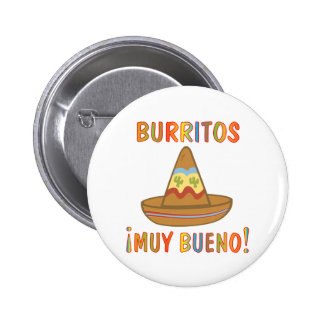 BURRITOS PINBACK BUTTON