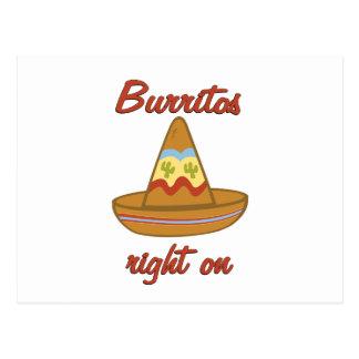 Burritos Right On Postcard