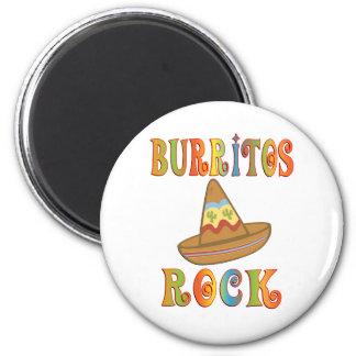 Burritos Rock Magnet