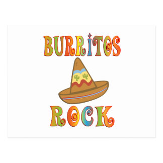 Burritos Rock Postcard