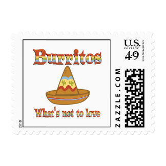 Burritos to Love Postage Stamps