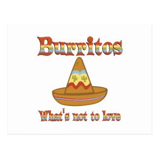 Burritos to Love Postcard