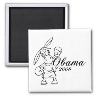 Burro 2008 de Obama Imán Cuadrado
