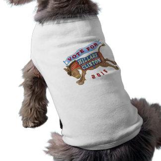 Burro 2016 del presidente elección de Hillary Playera Sin Mangas Para Perro