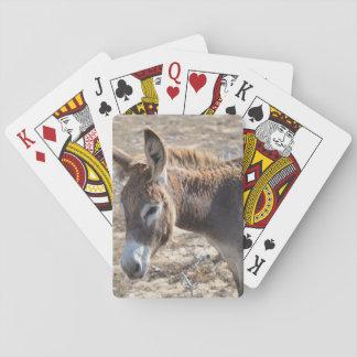 Burro adorable cartas de juego