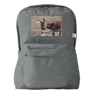 Burro adorable mochila
