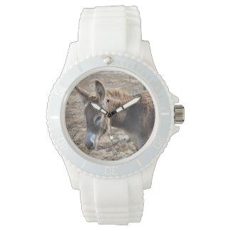 Burro adorable relojes de pulsera