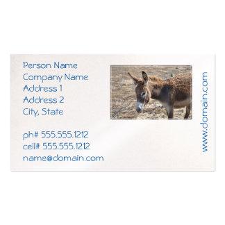Burro adorable tarjetas de visita