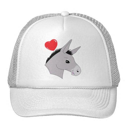Burro - amor miniatura del burro gorras