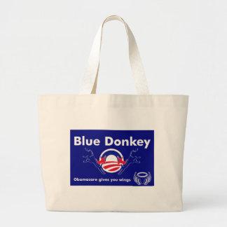 Burro azul bolsas de mano
