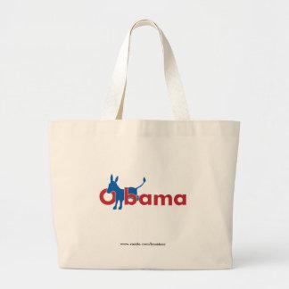 Burro azul de Obama - esquema blanco Bolsa