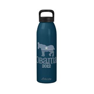 Burro azul lindo de Obama 2012 Botella De Beber