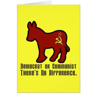 Burro comunista tarjetón