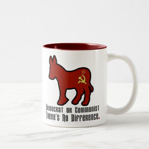 Burro comunista taza de café