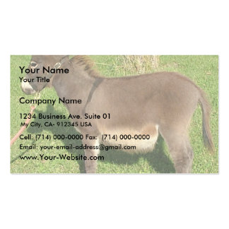 Burro con la correa en cuello tarjetas de visita