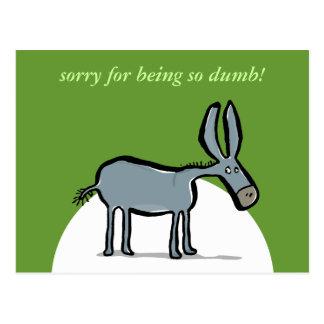 ¡burro - con sus propias palabras! postal