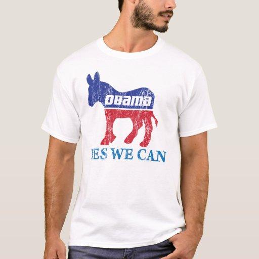 Burro de Barack Obama Demócrata podemos sí Playera