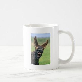 Burro de casa retrato tazas