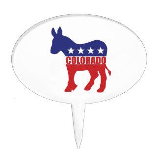 Burro de Colorado Demócrata Figura Para Tarta