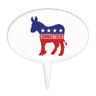 Burro de Connecticut Demócrata Figuras Para Tartas