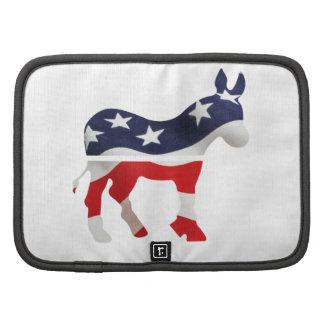 Burro de Demócrata con la bandera de los E.E.U.U. Organizador