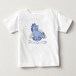 Burro de Demócrata del bebé T-shirts