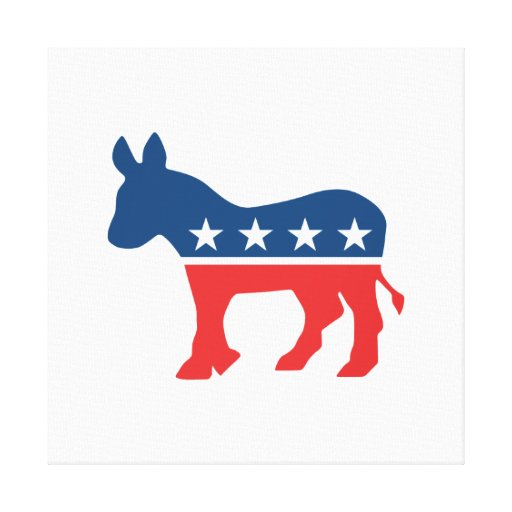 Burro de Demócrata Impresión En Lona Estirada