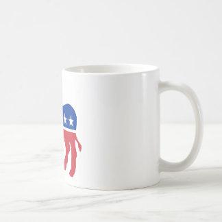 Burro de Demócrata Taza De Café