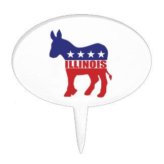 Burro de Illinois Demócrata Figura Para Tarta