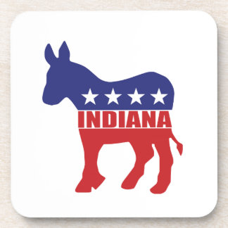 Burro de Indiana Demócrata Posavasos De Bebida
