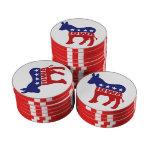Burro de Iowa Demócrata Fichas De Póquer