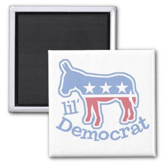 Burro de Lil Demócrata Imán Cuadrado