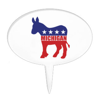 Burro de Michigan Demócrata Decoraciones De Tartas