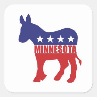 Burro de Minnesota Demócrata Pegatina Cuadrada