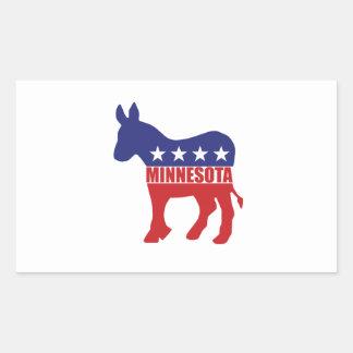 Burro de Minnesota Demócrata Pegatina Rectangular