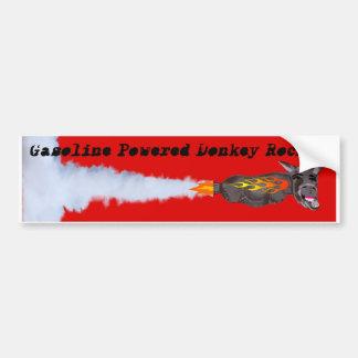 Burro de motor con gasolina Rocket Etiqueta De Parachoque