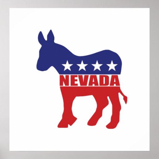 Burro de Nevada Demócrata Impresiones