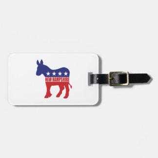 Burro de New Hampshire Demócrata Etiqueta Para Equipaje
