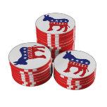 Burro de Ohio Demócrata Fichas De Póquer