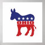 Burro de Ohio Demócrata Posters