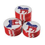 Burro de Utah Demócrata Fichas De Póquer