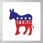 Burro de Utah Demócrata Poster