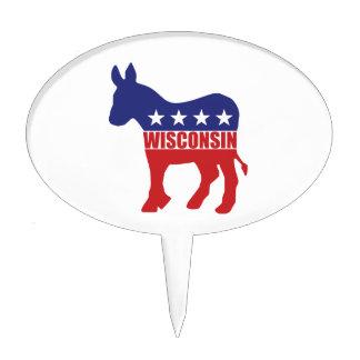Burro de Wisconsin Demócrata Decoraciones Para Tartas