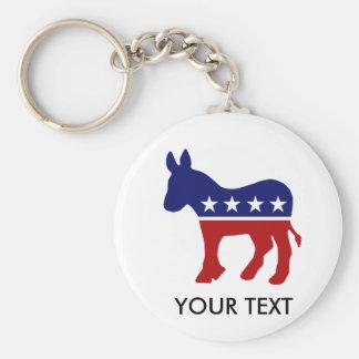 Burro del burro DNC de Demócrata Llaveros Personalizados