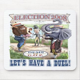 Burro del Dem contra el elefante Mousepad del GOP