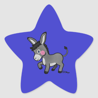 Burro del MI Pegatina En Forma De Estrella