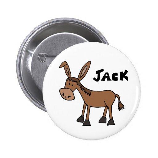 Burro divertido nombrado Jack Pin